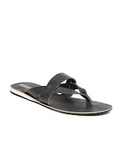 BASE ONE ONE Men Black Leather Sandals