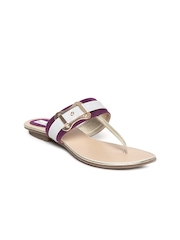 BASE ONE ONE Women Purple & White Flats