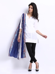 BIBA Women Blue & White Printed Dupatta
