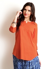 BIBA Women Orange Kurti