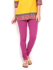 BIBA Women Pink Churidar Leggings