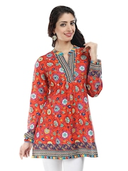 BIBA Women Red Gypsy Printed Kurti