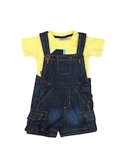 Baby League Boys Yellow & Navy Clothing Set