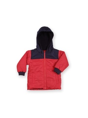 Boys Red & Navy Hooded Jacket Baby League
