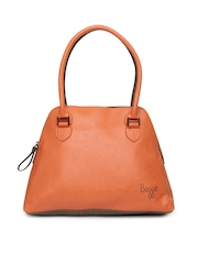 Baggit Orange & Mushroom Brown Handbag