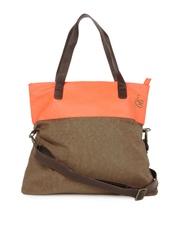 Baggit Brown & Orange Handbag