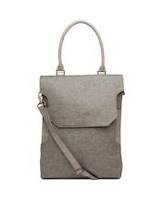 Baggit Grey & Brown Handbag
