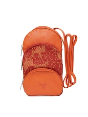 Baggit Women Orange Mobile Pouch