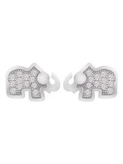 Baku Silver Stud Earrings