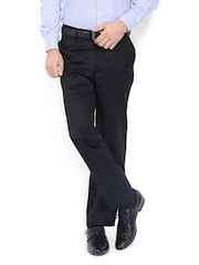 Basics Men Black Comfort Fit Trousers