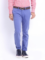 Basics Men Lavender Tapered Fit Chino Trousers