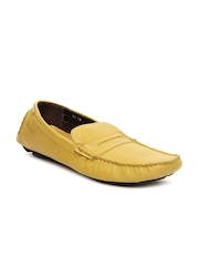 Basics 029 Men Mustard Yellow Leather Casual Shoes