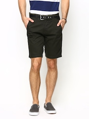 Basics Men Coffee Brown Comfort Fit Shorts