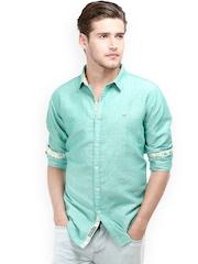 Basics Men Green Slim Fit Shirt