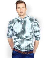 Basics Men Multicoloured Checked Slim Fit Casual Shirt