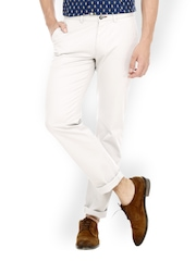 Men Off-White Slim Fit Chino Trousers Basics
