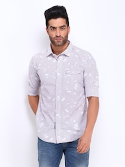 Men White & Red Checked Slim Fit Casual Shirt Basics