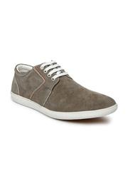 Bata Men Beige Suede Casual Shoes