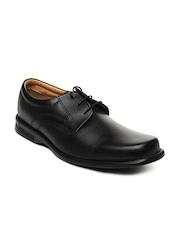 Bata Men Black Leather Formal Shoes