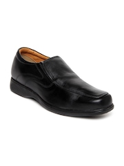 Bata Men Black Leather Semi-Formal Shoes