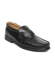 Bata Men Black Leather Semiformal Shoes