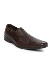 Bata Men Brown Leather Semi-Formal Shoes