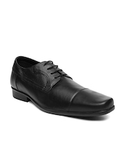 Bata Men Black Leather Formal Shoes