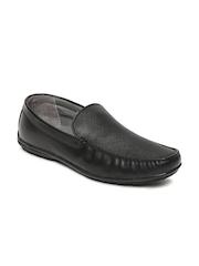 Bata Men Black Leather Moccasins