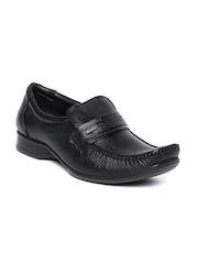 Bata Men Black Leather Semiformal Shoes