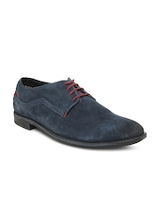 Bata Men Navy Suede Casual Shoes