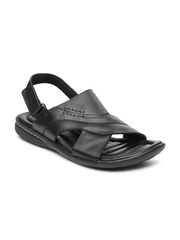 Bata Men Black Sandals
