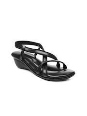 Bata Women Black Sandals