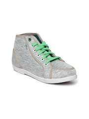 Bata Olive Women Grey Casual Shoes