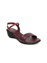 Bata Women Maroon Heels