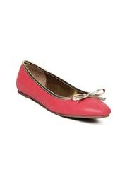 Bata Women Red Flat Shoes