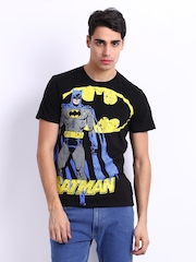 Batman Men Black Printed T-shirt