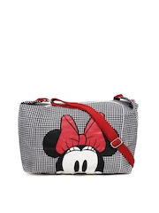 Be For Bag Women Black & White Minnie Print Sling Bag