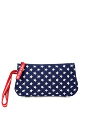 Be For Bag Navy & White Printed Nautical Collection Caravel Wristlet Pouch