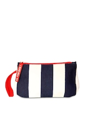 Be For Bag Navy & White Striped Nautical Collection Gybe Wristlet Pouch