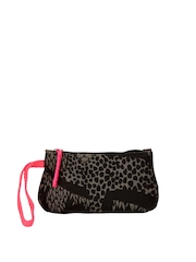 Be For Bag Black & Grey Printed Clutch