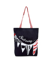 Be For Bag Women Navy Tote Bag