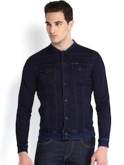 Being Human Clothing Dark Navy Denim Jacket