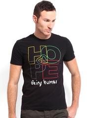 Being Human Clothing Men Black Printed T-shirt