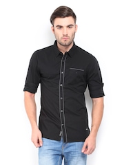 Being Human Clothing Men Black Slim Fit Casual Shirt