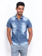 Being Human Clothing Men Blue Denim Slim Fit Casual Shirt