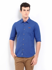 Being Human Clothing Men Blue Slim Fit Casual Shirt