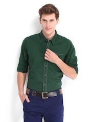 Being Human Clothing Men Green Slim Fit Casual Shirt