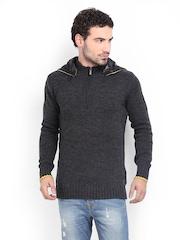 Being Human Clothing Men Grey Wool Blend Sweater