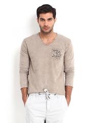 Being Human Clothing Men Khaki T-shirt