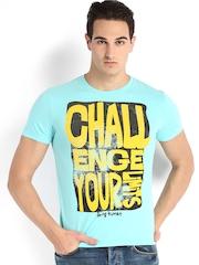 Being Human Clothing Men Blue Printed T-shirt